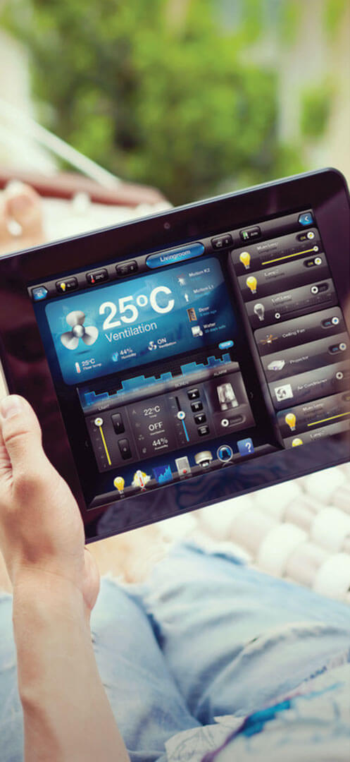 iPad with the Fibaro app showing