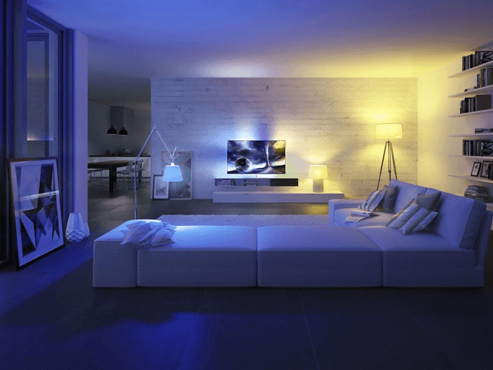 Picture of lounge with mood lighting